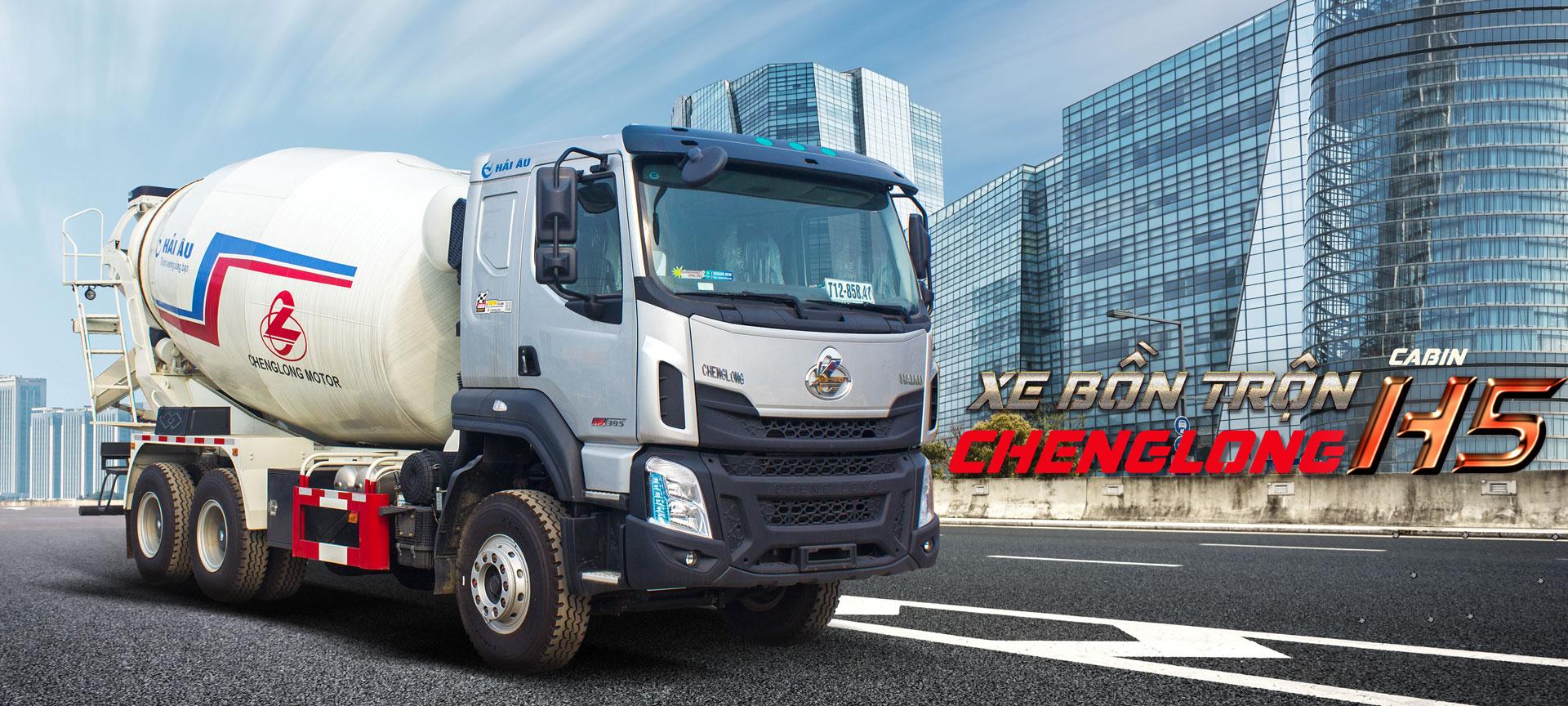 XE BỒN TRỘN CHENGLONG H5 350HP